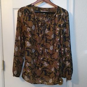 Loft Floral olive green tunic